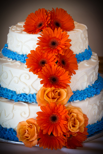 Cake with Blue and Orange BSL