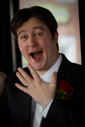 Groom with Ring on Finger