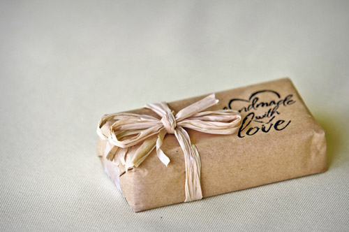Handmade Soap Favors gift wrapped