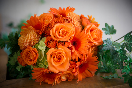 Orange Floral Arrangement BSL