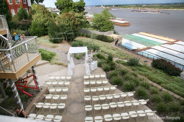 Outdoor Ceremony Area - The Bluffs on Broadway - BrideStLouis.com Venue Profile Review